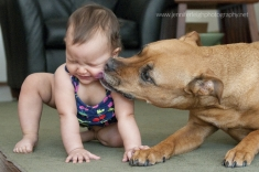 First Year - Capturing Baby and Dog Together - Jennifer Tacbas - Jennifer Leigh Photography