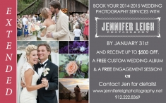Extended! 2014-2015 Wedding Promotion - Jennifer Leigh Photography, Saint Simons Island weddings